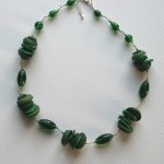 green wired necklace