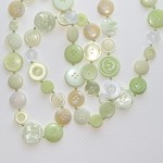 pale green long buttons