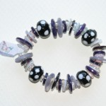 purple and black adult elastic bracelet