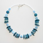 turquoise and stripes necklace