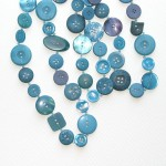 turquoise long buttons
