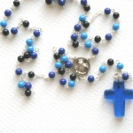 Blue wooden rosary