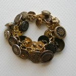 antique gold buttons