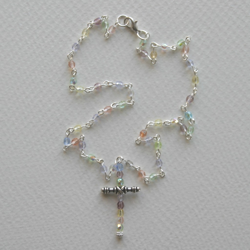 beaded cross necklaces butterfly beading