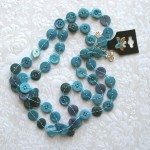 turquoise small buttons