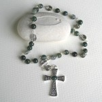 Moss Agate Stone Anglican Prayer Beads