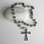 Snowflake Obsidian Stone Anglican Prayer Beads