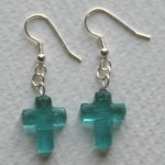 turquiose cross earrings